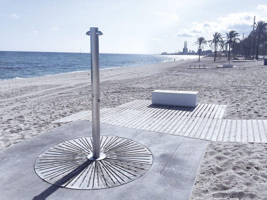 Outdoor Shower Barcelona Foot Washer Beach