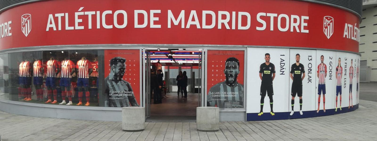 Concrete bollards installed at Atletico de Madrid by Ado