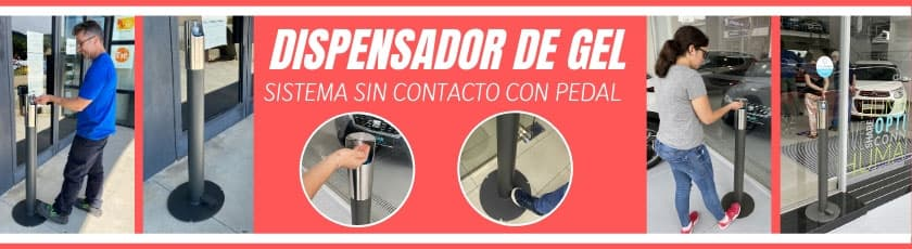 Dispensador de gel bollard